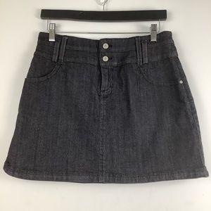 Lolë Organic Cotton Jean Mini Skirt in Black